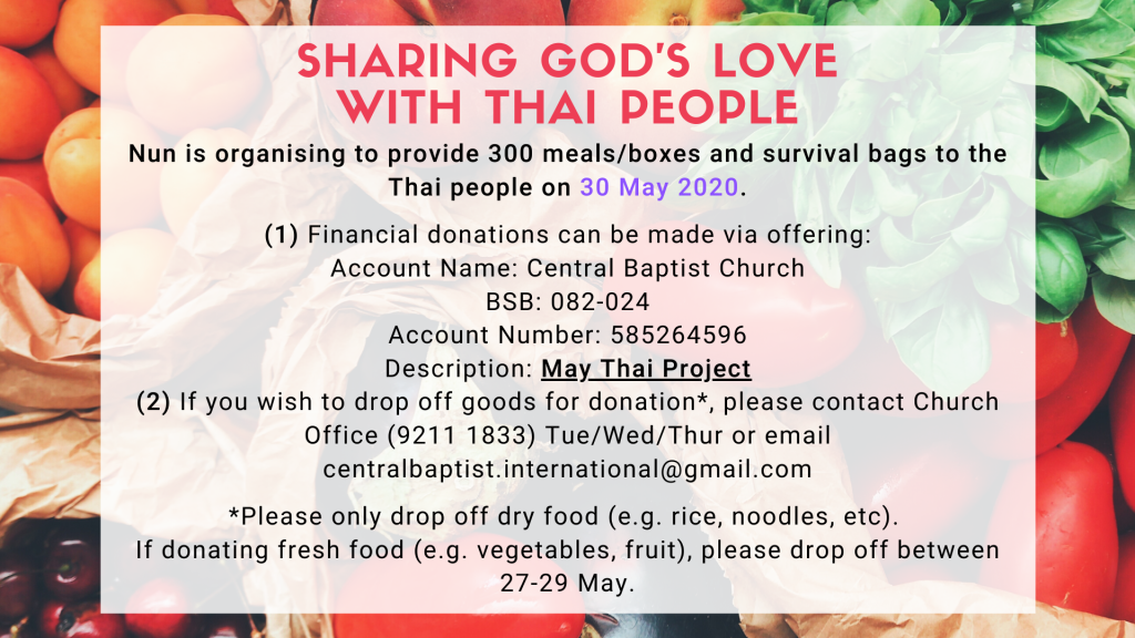 Sharing God's Love with Thai People